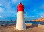 Beacon Cartagena lighthouse in Spain — Stock Photo