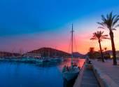 Cartagena Murcia port marina sunset in Spain — Stock Photo
