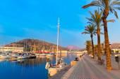Cartagena Murcia port marina sunrise in Spain — Stock Photo
