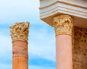 Columns in Cartagena Roman Amphitheater Spain — Stockfoto