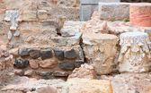 Columns in Cartagena Roman Amphitheater Spain — Stock Photo