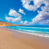 La carolina beach in Murcia  at Mediterranean sea  — Stock Photo