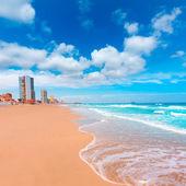 Playa la manga del mar menor en murcia España — Foto de Stock