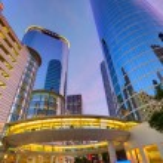 Houston Downtown sunset skyscrapers Texas — Stock Photo #57772619