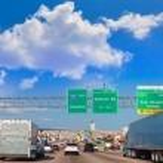 Houston Katy Freeway Fwy in Texas USA — Stock Photo #57776607
