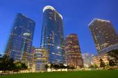 Houston Downtown skyline sunset at Texas US — Stock Photo