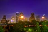 Houston skyline west view sunset Texas US — Stock Photo