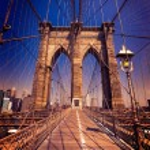 Brooklyn Bridge and Manhattan New York City US — Stock Photo #62302585