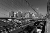 Brooklyn Bridge and Manhattan New York City US — Stock Photo