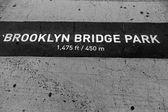 Brooklyn bridge Park signl painted on floor in NY — Stock Photo