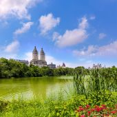 Central Park The Lake Manhattan New York — Stock Photo