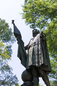 Central Park Christopher Columbus statue — Stock Photo