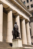 New York Federal hall Memorial George Washingto — Stock Photo