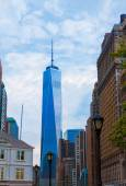 Lower Manhattan with Prudential Tower New York — Stock Photo