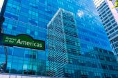 Manhattan New York city Las Americas 6th Av — Stock Photo