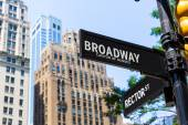 Broadway street sign Manhattan New York USA — Stock Photo