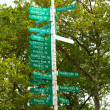 Paradise sign signal post in New York Battery Park — Stock Photo #62339373