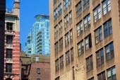 Manhattan New York downtown buildings textures — Stock Photo