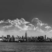 Manhattan New York skyline from Hudson River — Стоковое фото