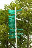 Paradise sign signal post in New York Battery Park — Stock Photo