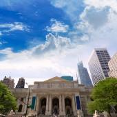 New York Manhattan Public Library Fifth Avenue — Stock Photo