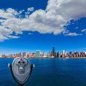 Manhattan New York sunny skyline East River NYC — Stock Photo