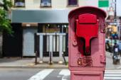 Brooklyn old Fire Alarm in red in Greenpoint NY — Stock Photo