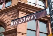 Broadway Street sign Manhattan Soho New York — Stock Photo