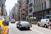 Soho street traffic in Manhattan New York City US — Stock Photo
