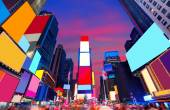 Times Square Manhattan New York deleted ads — Stockfoto