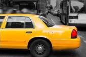 Times Square New York yellow cab daylight — Stock Photo