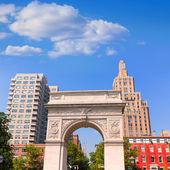Manhattan Washington Square Park Arch NYC US — Stock Photo
