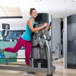 Gym glute exercise machine woman workout — Stock Photo #63930459