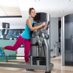 Gym glute exercise machine woman workout — Stock Photo #63930459