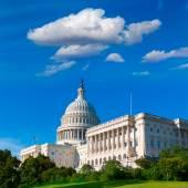 Capitol building Washington DC sunlight day US — Foto de Stock