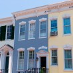 Georgetown historical district facades Washington — Stock Photo #65849887