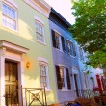 Georgetown historical district facades Washington — Stock Photo #65846127