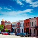 Georgetown historical district facades Washington — Stock Photo #65849699