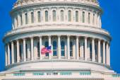 Capitol building Washington DC american flag USA — Stock Photo