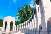 World War II Memorial in washington DC USA — Stock Photo