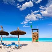 Mallorca Can Picafort beach in alcudia bay Majorca — Stock Photo