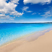 Mallorca Platja de Alcudia beach in Majorca  — Stock Photo