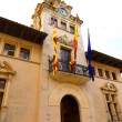 Alcudia Old Town city town hall Majorca Mallorca — Stock Photo #67393579