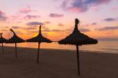 Majorca El Arenal sArenal beach sunset near Palma — Stock Photo