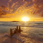 Majorca Sunset in Es Trenc beach in Campos — Stock fotografie