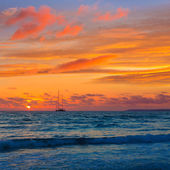Majorca Sunset in Es Trenc beach in Campos — Stockfoto
