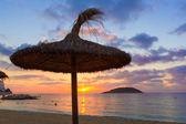 Mallorca sunrise in Magaluf Palmanova beach — Stock Photo