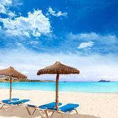 Majorca Platja Palmanova beach in Calvia Bol Teules — Stock Photo