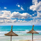 Majorca sArenal arenal beach Platja de Palma — Stock Photo