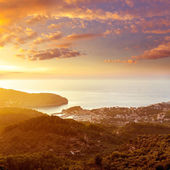 Port de Soller sunset in Majorca at Balearic island — Stock Photo